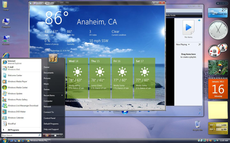 windows vista desktop