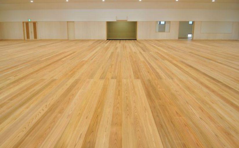 香川県・直島町にて剣道場床工事が完了しました