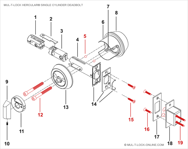 Schlage Door Lock Parts Diagram, Schlage, Free Engine