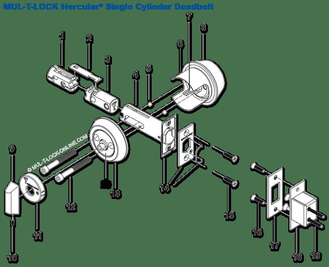 MUL-T-LOCK ONLINE » Bolt Extension for MUL-T-LOCK Hercular