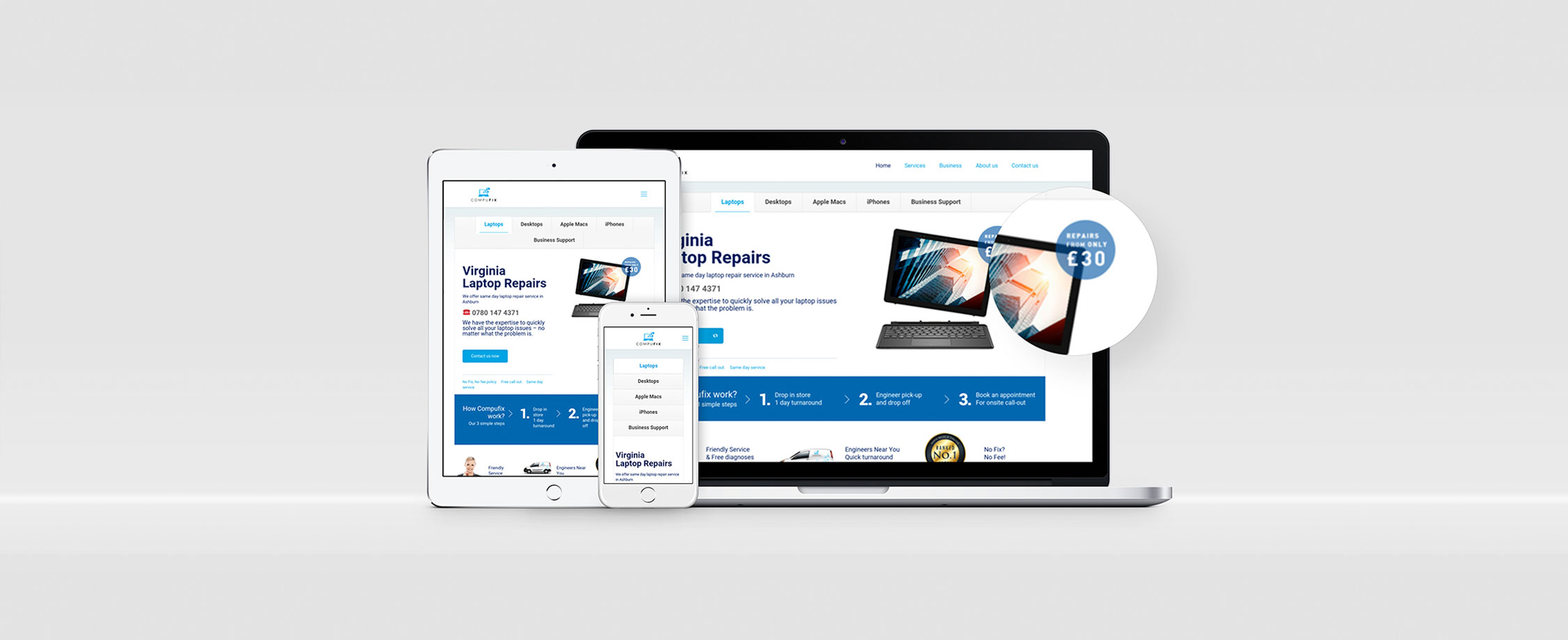 Compufix North Wales and Chester. Website Project by Mulberry Digital