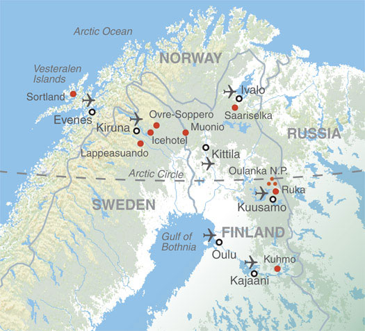 Map Where You Can See Northern Lights