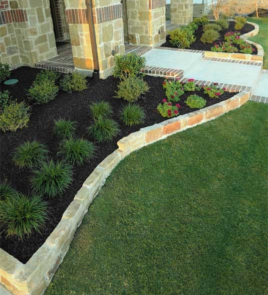 black rubber mulch landscaping