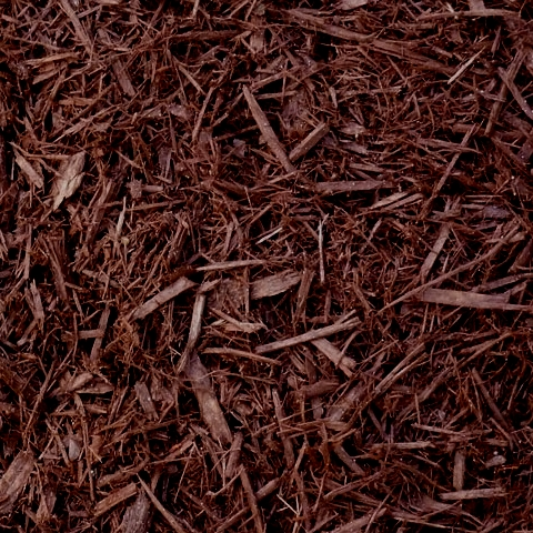 brown wood mulch landscaping
