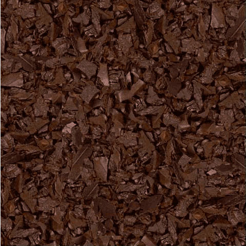 brown rubber mulch landscaping