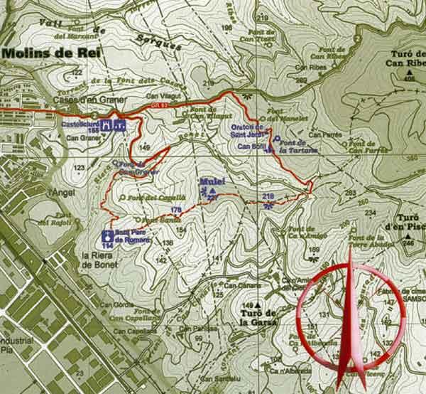 Mapa del Mulei