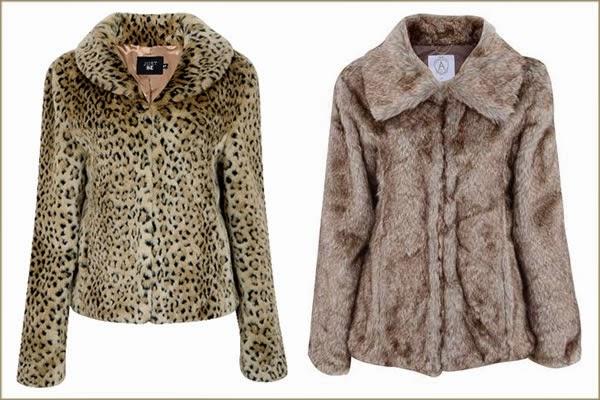 Casaqueto e casaco de pelo sintético