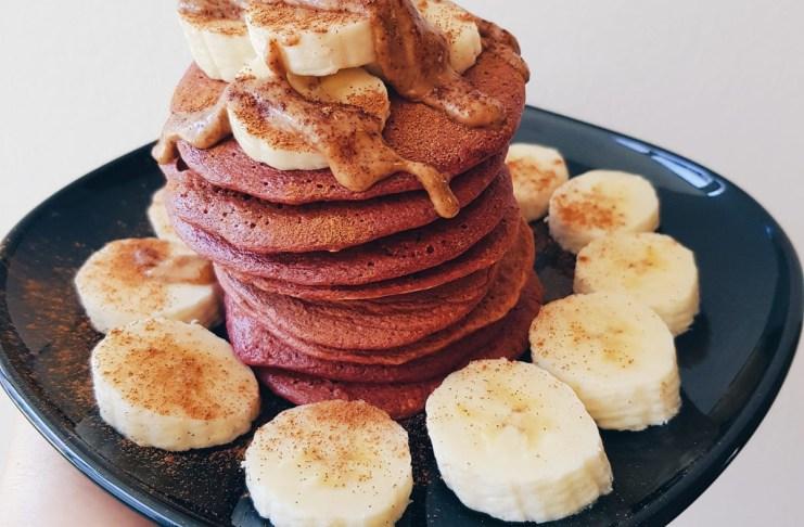 Receita de panquecas de aveia e banana