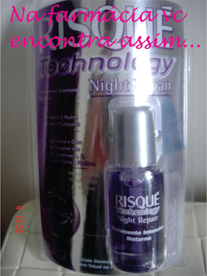 Risqué Technology Night Repair para unhas
