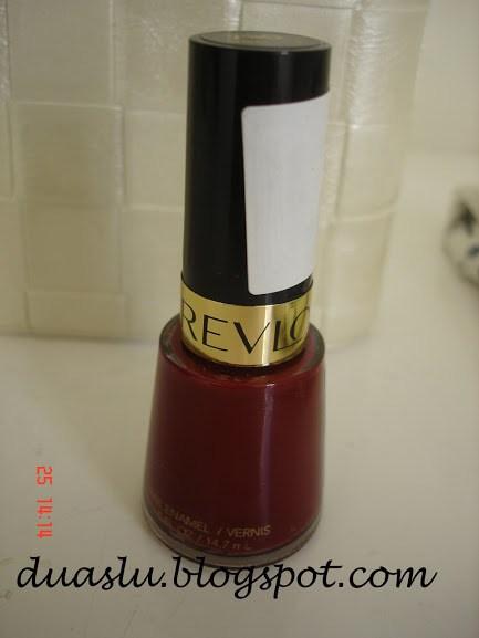 Valentine Revlon esmalte vinho resenha
