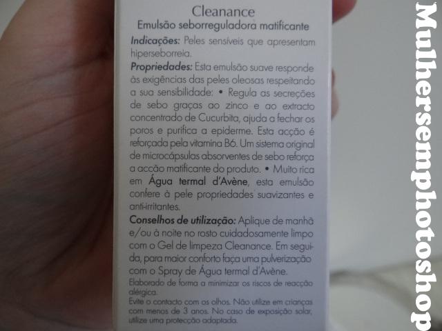 Avene Cleanance Emulsion - hidratante para pele oleosa