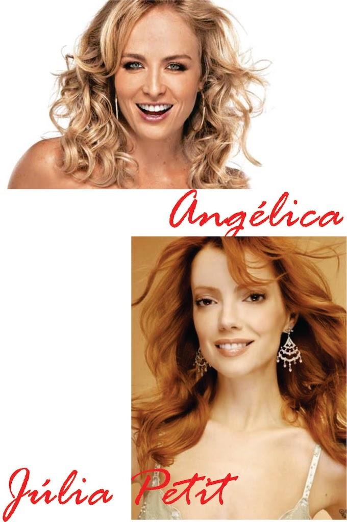 Angelica e Julia Petit cabelo