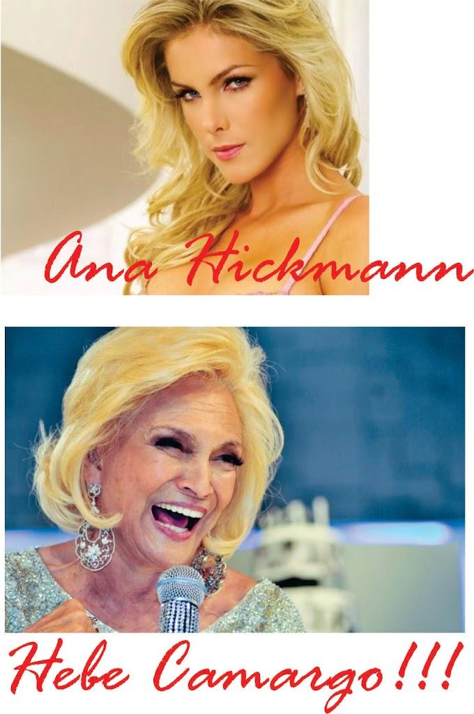 Ana Hickmann e Hebe Camargo cabelos