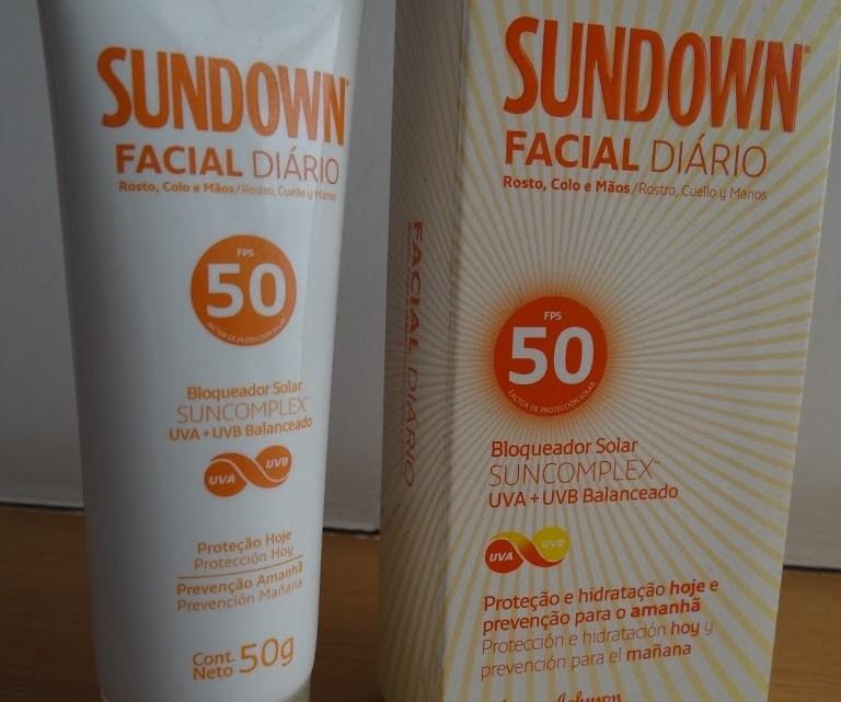 Sundown Facial Diário Toque seco resenha