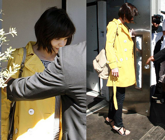 Katie Holmes Trench Coat Amarelo