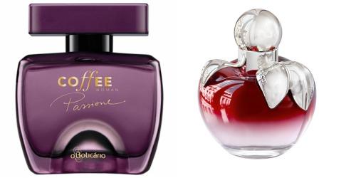 Comparação de perfumes: Coffee Passione x Nina L'Elixir