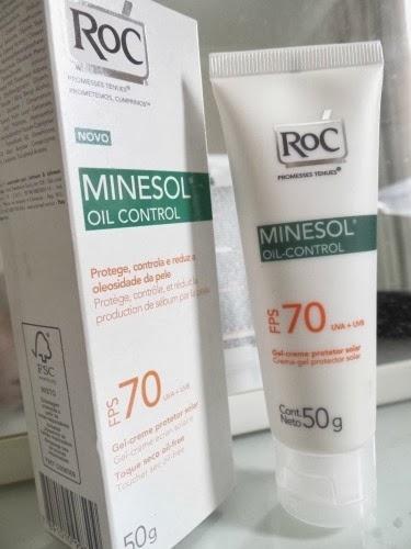 Minesol Oil Control Roc - resenha protetor solar pele oleosa