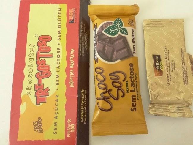 Chocolate sem açucar X Chocolate de soja X Alfarroba