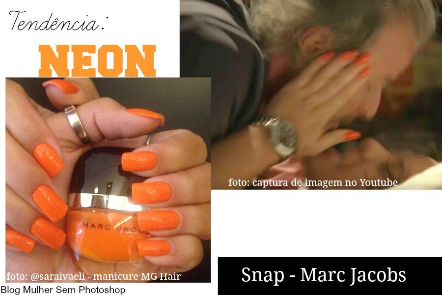 Esmalte laranja neon Fernanda Souza Mel de A Regra do Jogo