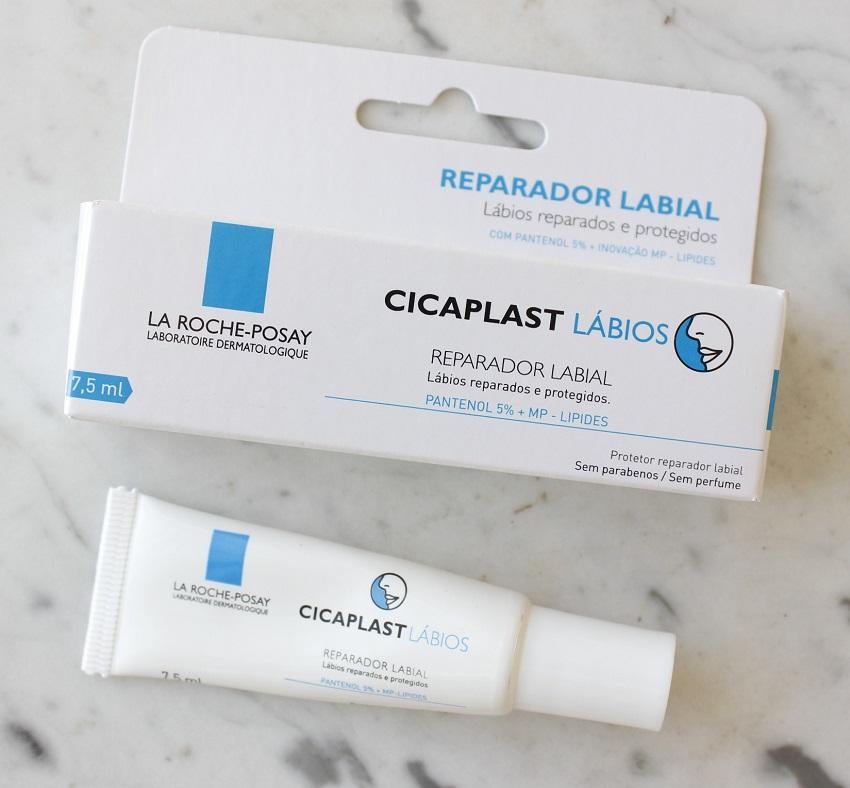 Cicaplast Lábios Regenerador Labial La Roche Posay resenha ANTES E DEPOIS