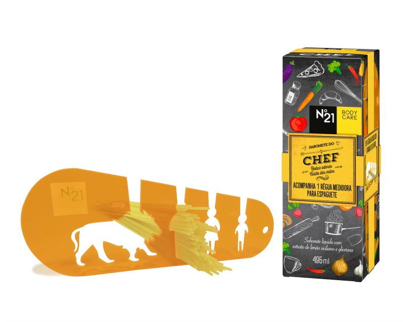 Sabonete do Chef + régua medidora de espaguete Nº21