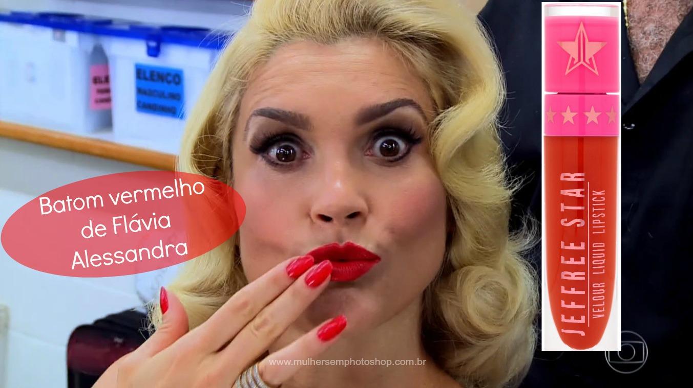 batom-vermelho-Flavia-Alessandra-Eta-Mundo-Bom Vídeo Show