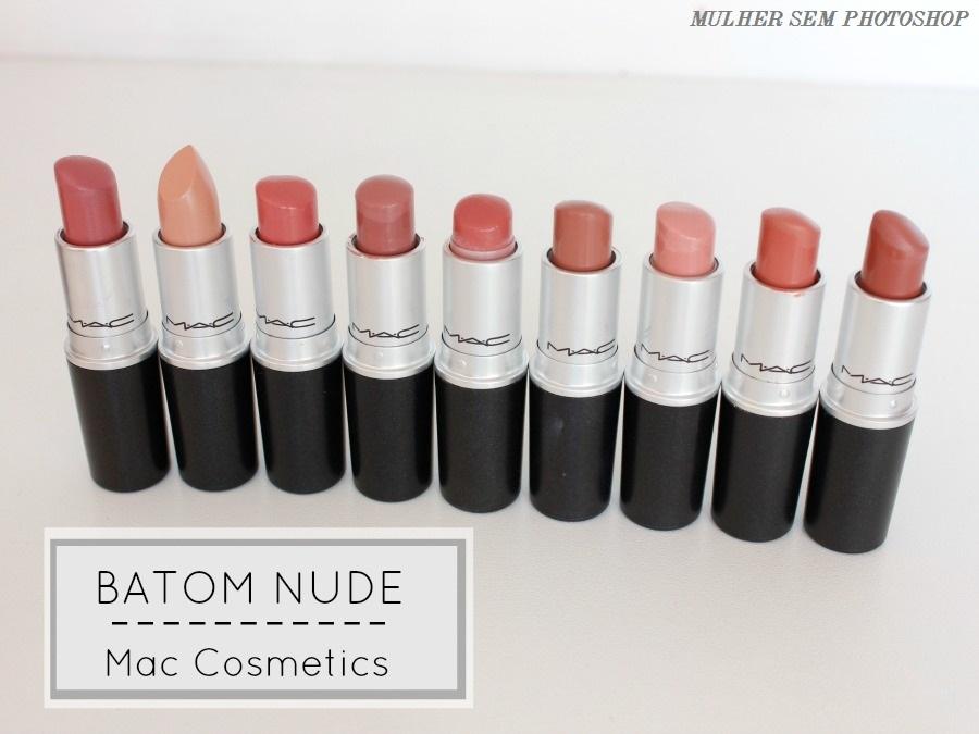9 batons nude da Mac