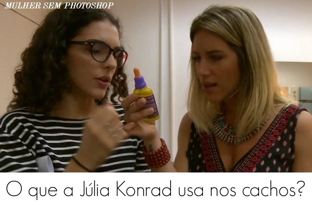 O óleo que Júlia Konrad usa no cabelo cacheado