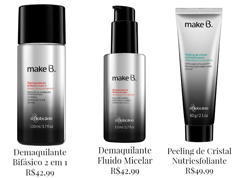 Produtos Pós Maquiagem - Make B. Cuidados Faciais