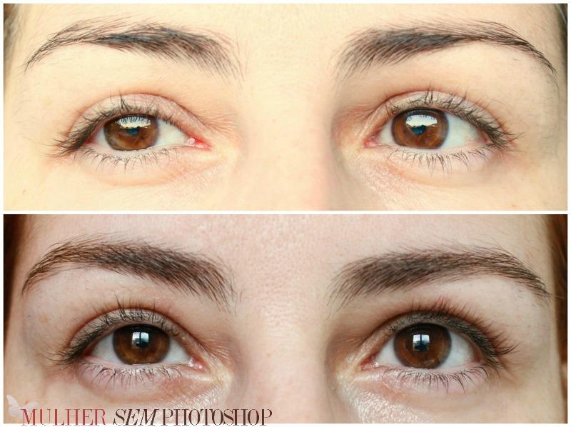 Óleo de Rícino para sobrancelhas - antes e depois