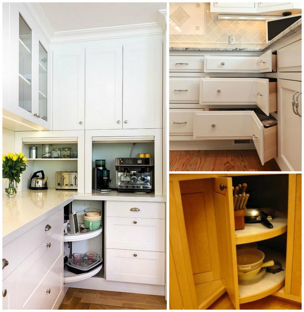 Como aproveitar os cantos dos armários de cozinha
