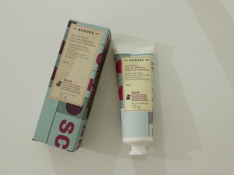 3 produtos Korres: sabonete, limpeza facial e creme para mãos