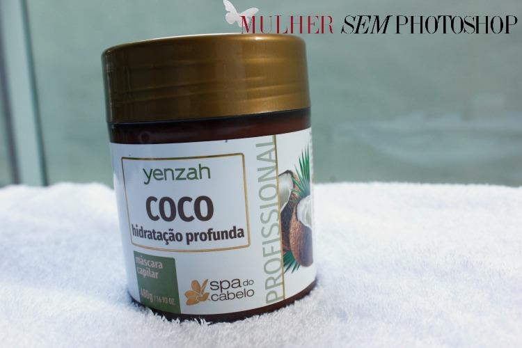 máscara de coco - Spa do Cabelo - Yenzah - resenha