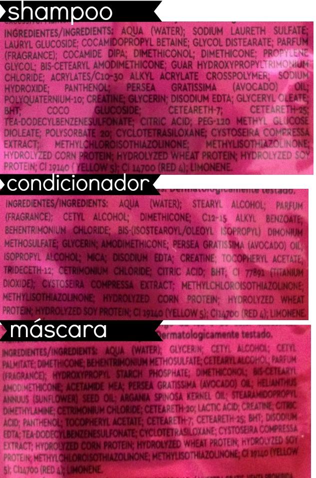 match patrulha do Frizz - resenha - formula shampoo condicionador e máscara