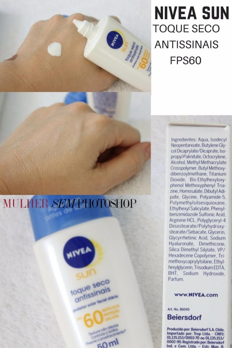Nivea Sun Toque Seco Antissinais FPS60 resenha