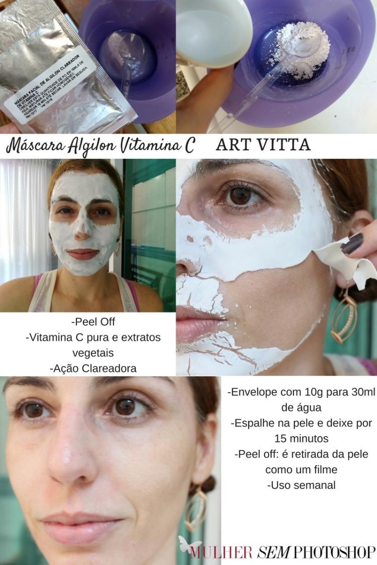 Máscara Algilon Vitamina C Art Vitta