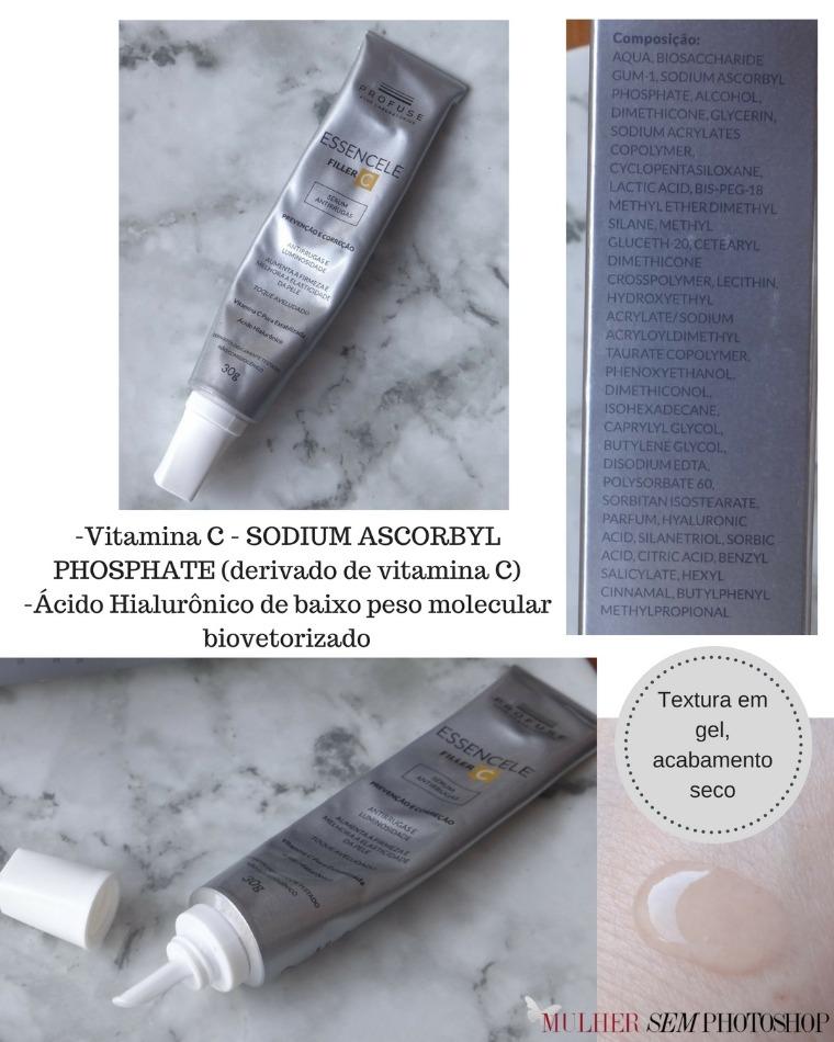 Essencele Filler C - Profuse - resenha de vitamina C para o rosto