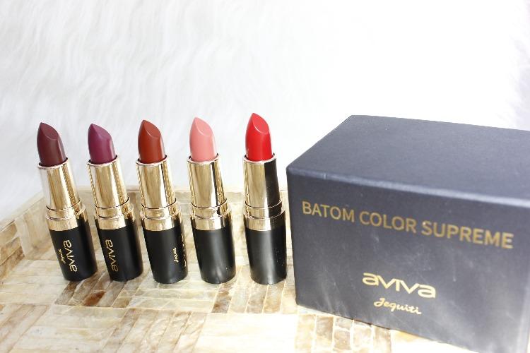 Color Supreme Aviva Jequiti - 6 cores de batom