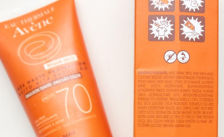 Avene Protetor Solar Toque Seco com cor - resenha - pele oleosa