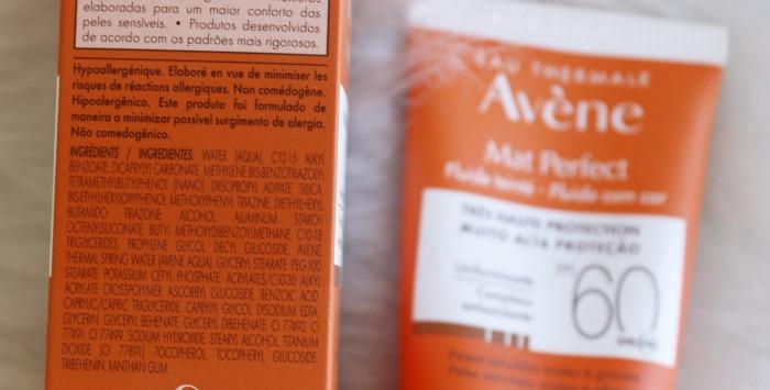 Mat Perfect com Cor Avene - resenha protetor solar com cor