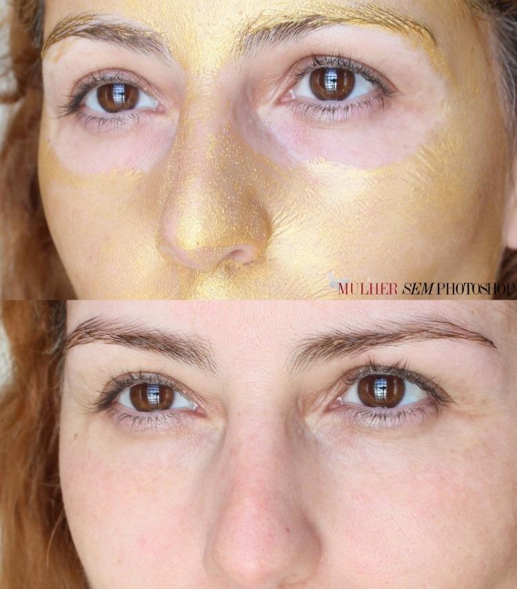 Máscara de Ouro resenha - GoldPlat Cosméticos antes e depois