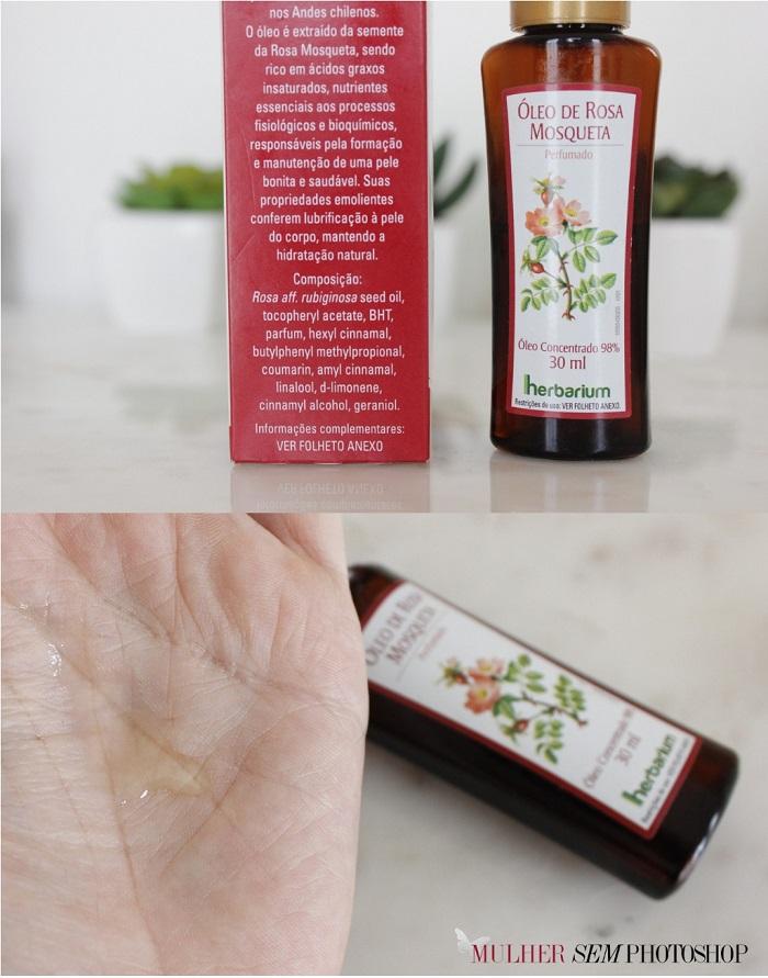 Óleo Rosa Mosqueta Herbarium resenha e composição