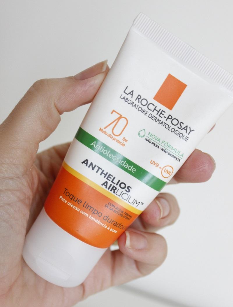 Anthelios Airlicium - formula nova - resenha protetor solar La Roche Posay pele oleosa