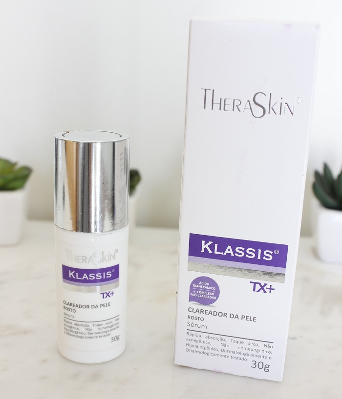Klassis TX+ Theraskin resenha clareador para melasma
