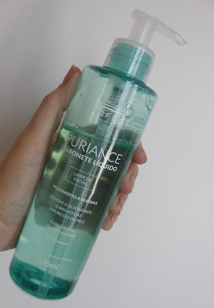 Puriance Sabonete Líquido da Profuse - resenha em pele oleosa