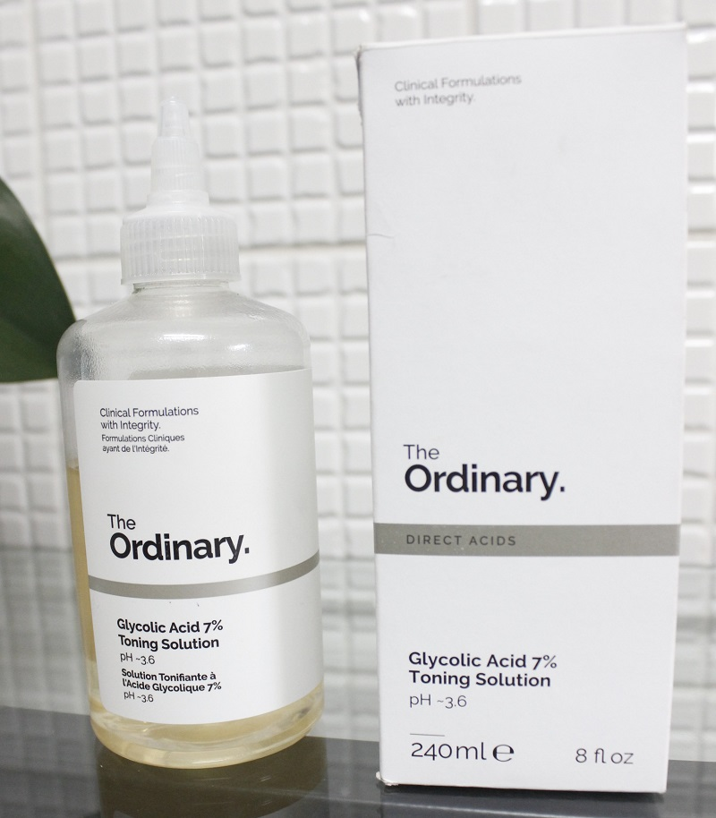 Acido Glicólico The Ordinary resenha Glicolic Acid Toning Solution