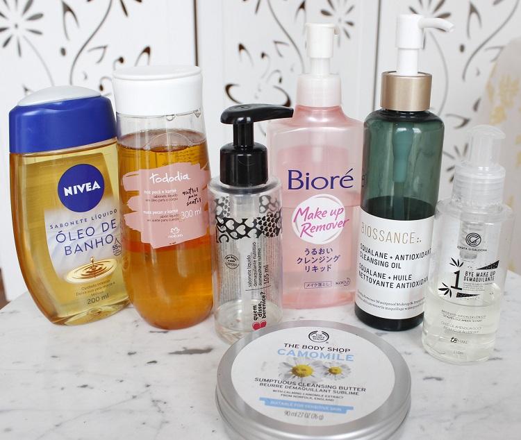 Rotina de cuidados com a pele - limpeza com cleansing oil