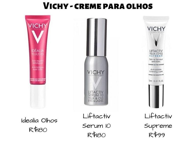 3 Cremes para Olhos Vichy – qual é o melhor? Compare e escolha!