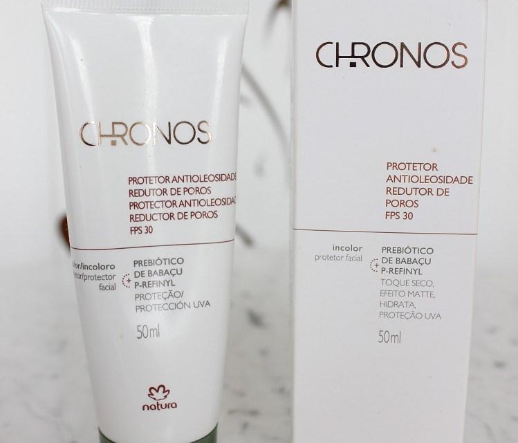 Protetor Antioleosidade Redutor de Poros FPS30 Natura Chronos resenha