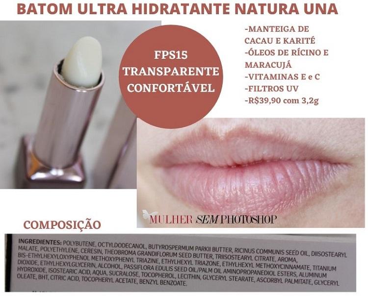 Batom Ultra Hidratante Natura Una resenha hidratante labial Natura